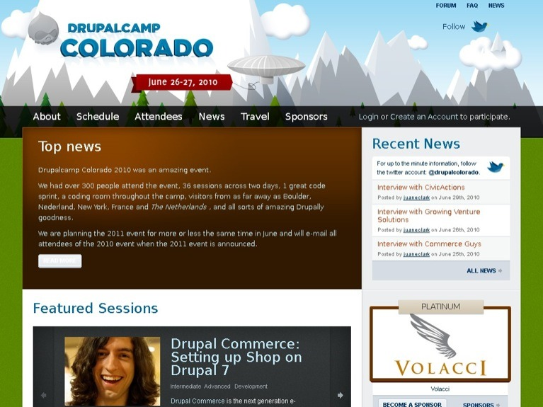 Image of the Drupalcamp Colorado 2010 site